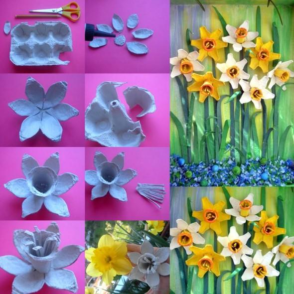 Flores de caixa de ovos 008