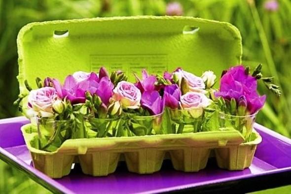 Flores de caixa de ovos 012