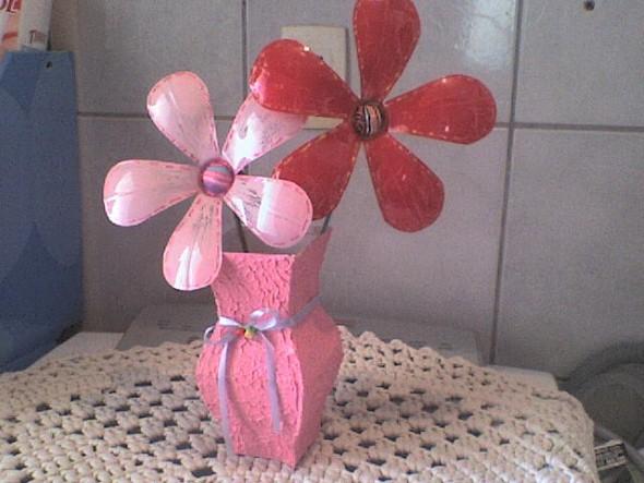 Flores de garrafa PET 008