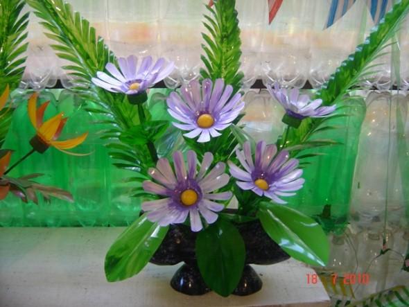Flores de garrafa PET 010