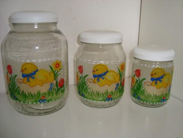 Decoupage em potes de vidro 004