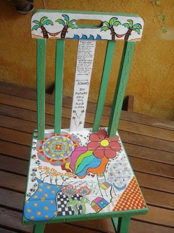Artesanato com cadeiras antigas 002
