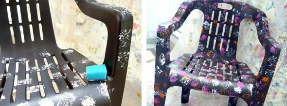 Artesanato com cadeiras antigas 007
