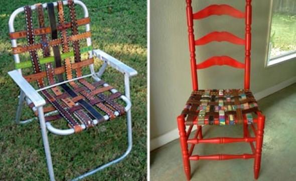 Artesanato com cadeiras antigas 010