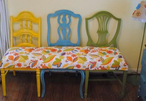 Artesanato com cadeiras antigas 014