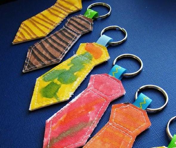 Chaveiro artesanal para o Dia dos Pais 011