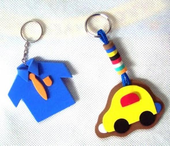 Chaveiro artesanal para o Dia dos Pais 012