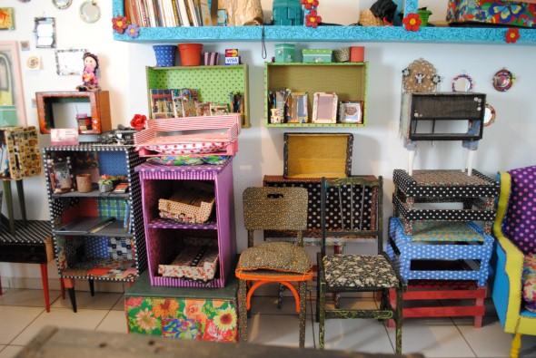 Como reformar móveis com tecido 008