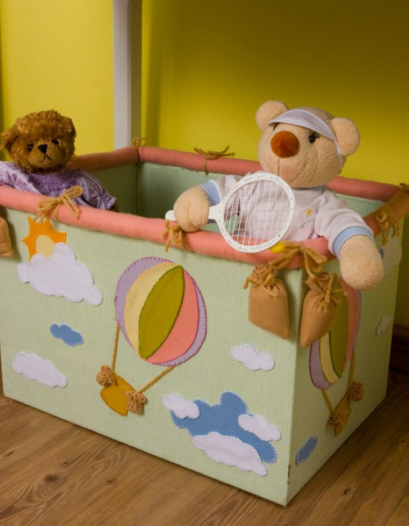 Organizadores artesanais para o quarto das crianças 016