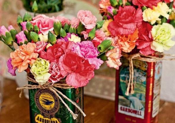 Vasos de flores artesanais e criativos 002