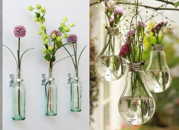 Vasos de flores artesanais e criativos 005