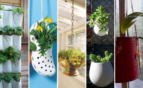 Vasos de flores artesanais e criativos 006