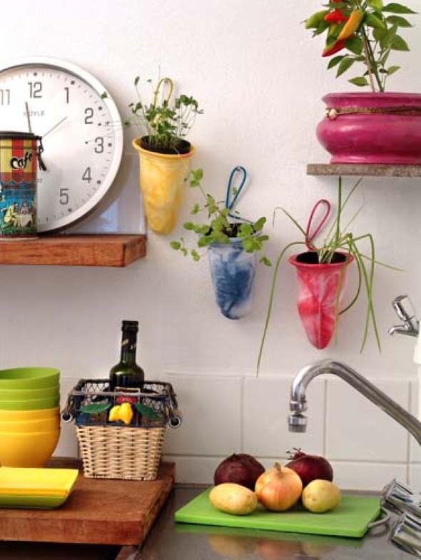 Vasos de flores artesanais e criativos 007
