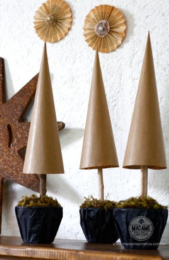 Artesanato com cones de papelão 005