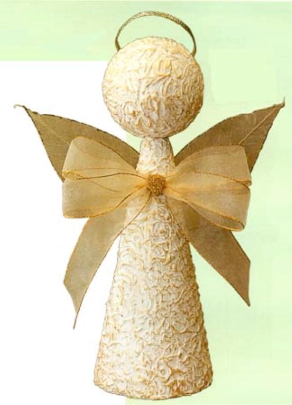 Artesanato com cones de papelão 008