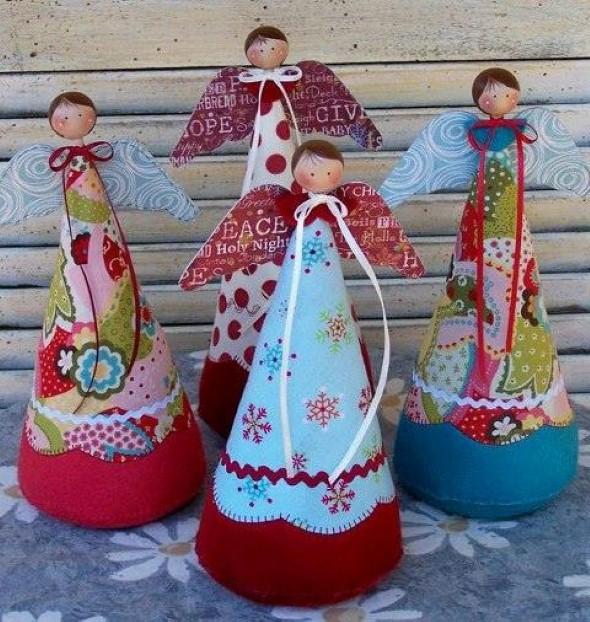 Artesanato com cones de papelão 012