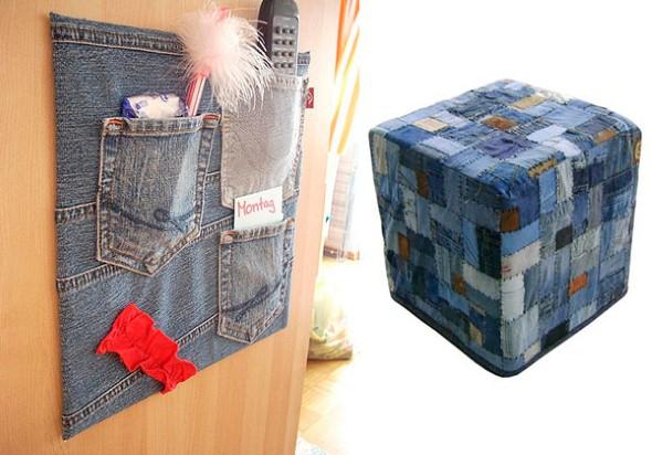 Artesanato com jeans usado 013