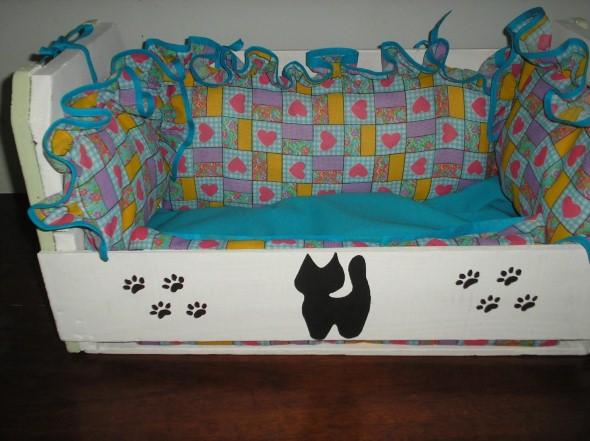 Cama artesanal para animais de estimação 014