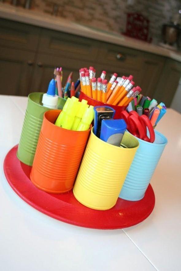 Porta lápis artesanal 013