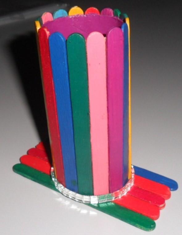 Porta lápis artesanal 014
