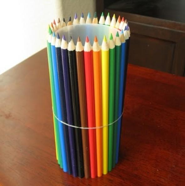 Porta lápis artesanal 015