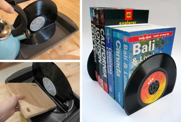 artesanato com discos de vinil 008