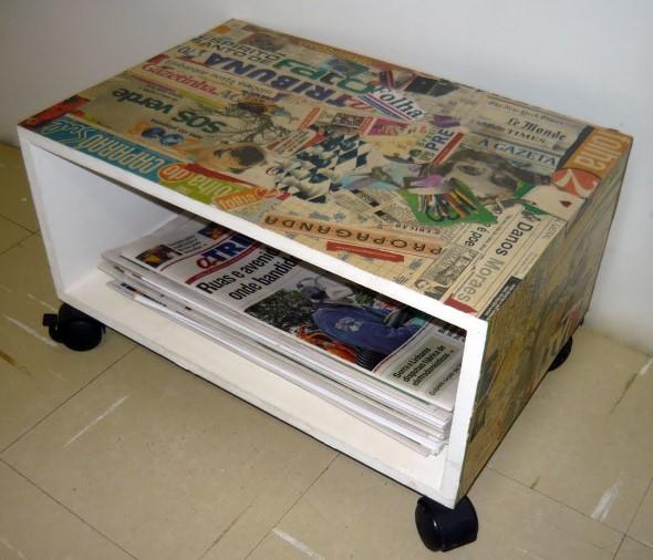 Artesanato com recortes de jornais, fotos e revistas 006