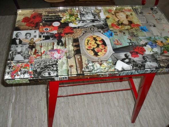 Artesanato com recortes de jornais, fotos e revistas 007