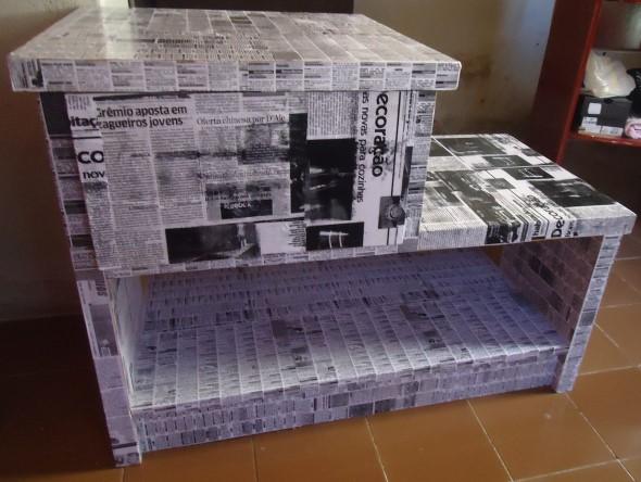 Artesanato com recortes de jornais, fotos e revistas 008