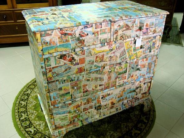 Artesanato com recortes de jornais, fotos e revistas 010