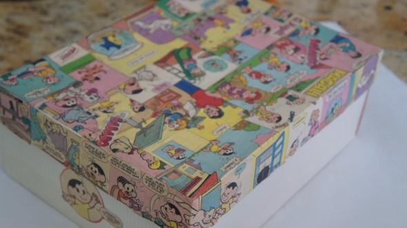 Artesanato com revistas em quadrinhos 004