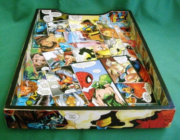 Artesanato com revistas em quadrinhos 006