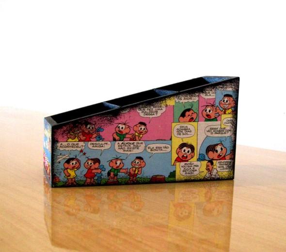 Artesanato com revistas em quadrinhos 010