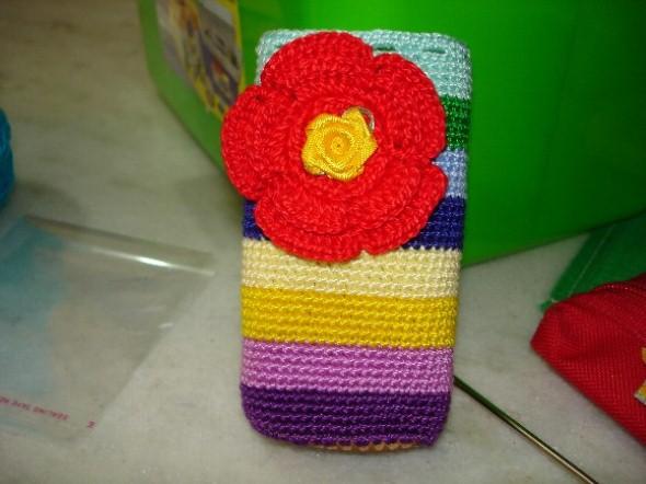 Como fazer porta celular de crochê 003