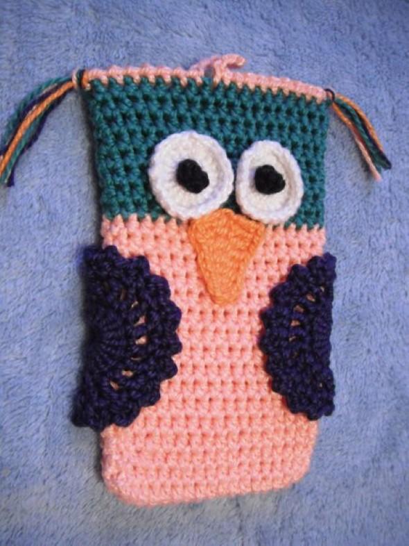 Como fazer porta celular de crochê 008