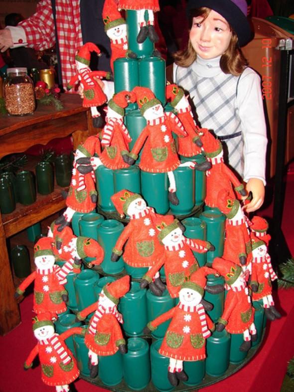 Árvore de Natal de material reciclado 003