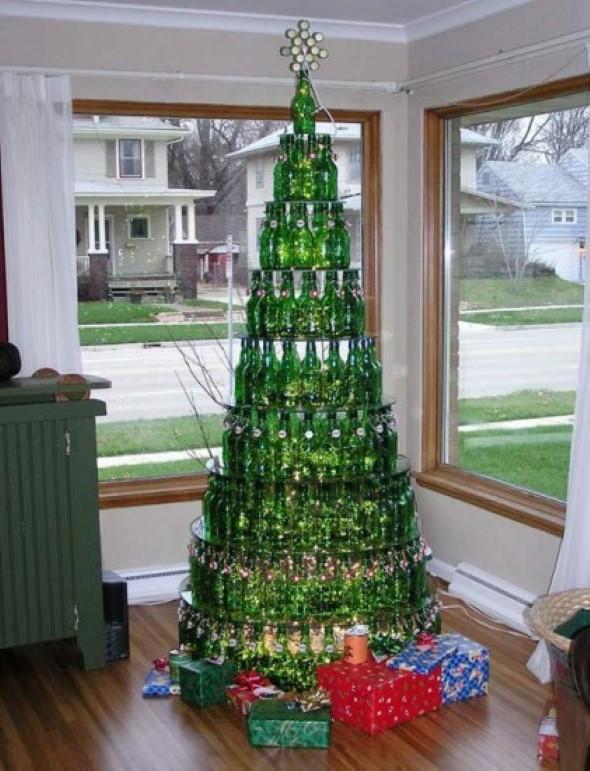 Árvore de Natal de material reciclado 006