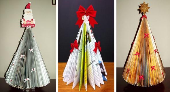 Árvore de Natal de material reciclado 009