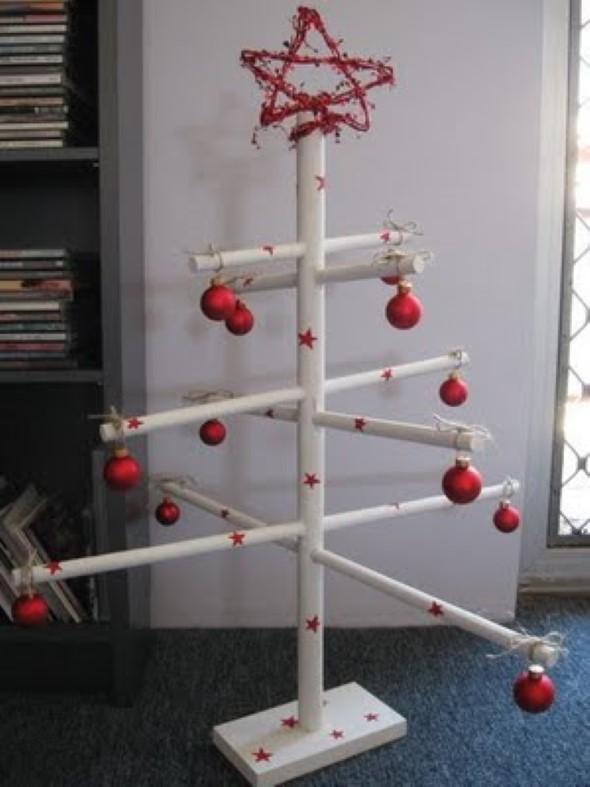 Árvore de Natal de material reciclado 010