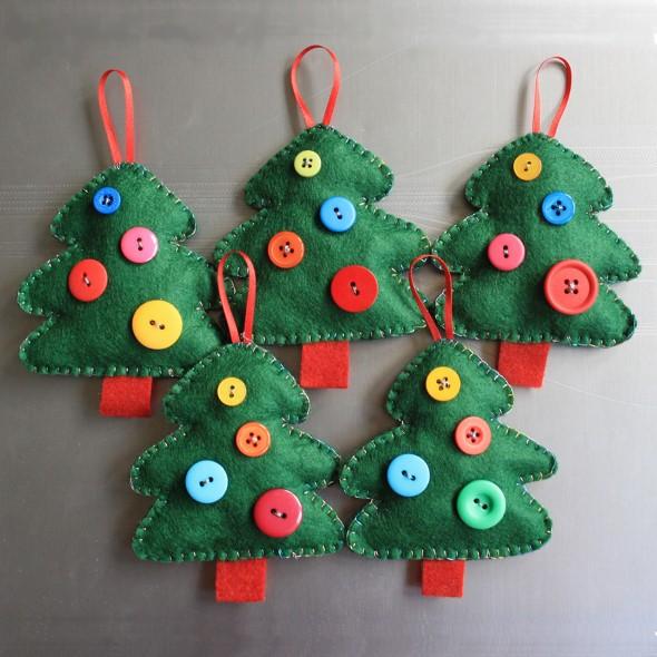 Artesanato natalino com feltro 001