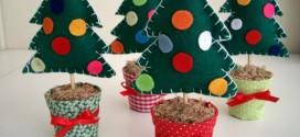 Artesanato natalino com feltro