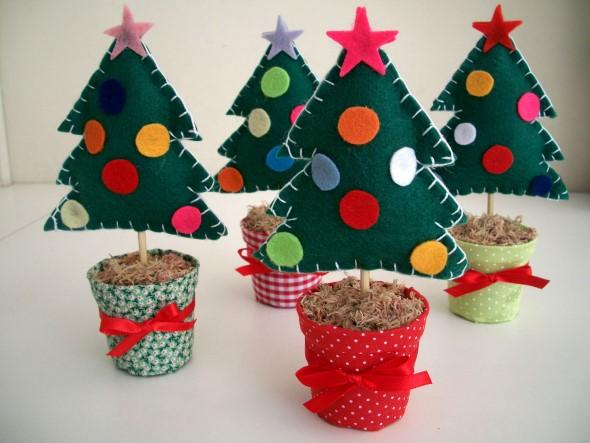Artesanato natalino com feltro 002