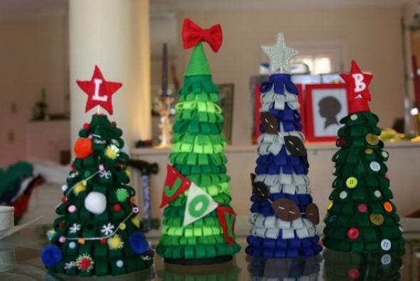 Artesanato natalino com feltro 007