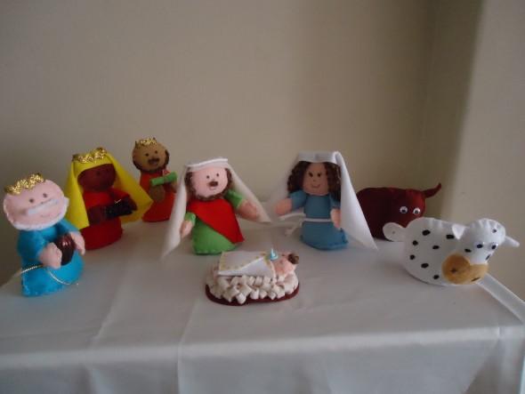 Artesanato natalino com feltro 014