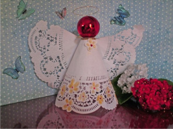 Como fazer anjinhos natalinos 008