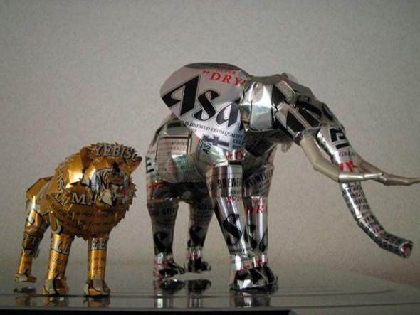 Artesanato com latinhas de alumínio 004
