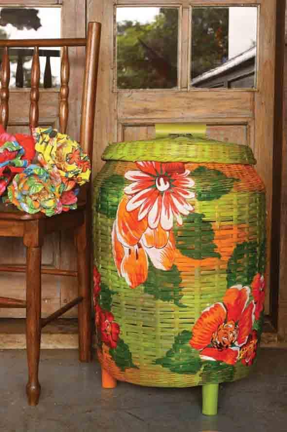 Artesanato com cestos de vime 002