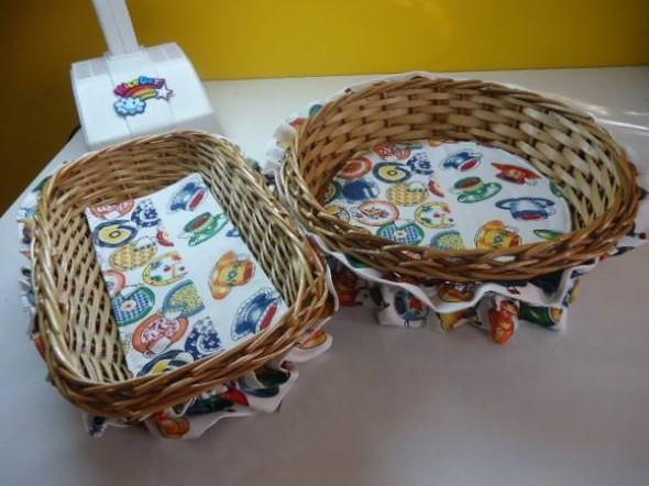 Artesanato com cestos de vime 014