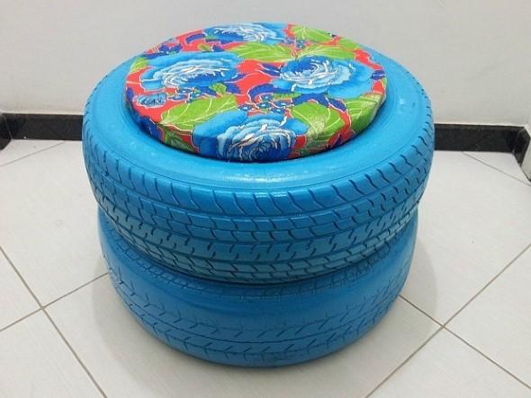 Artesanato com pneus – Reciclando com arte 002