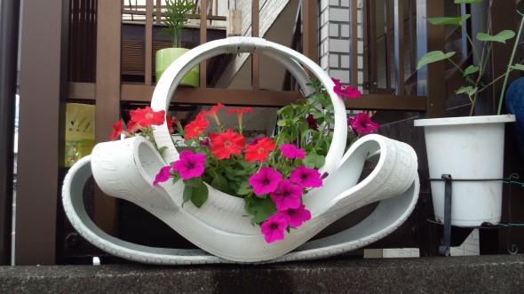 Artesanato com pneus – Reciclando com arte 003